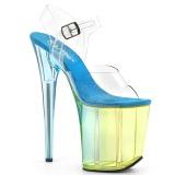 Azul 20 cm FLAMINGO-808MCT sandálias pole dance