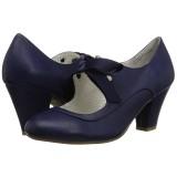 Azul 6,5 cm WIGGLE-32 Pinup sapatos scarpin com salto grosso