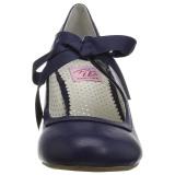 Azul 6,5 cm WIGGLE-32 retro vintage sapatos maryjane com salto grosso