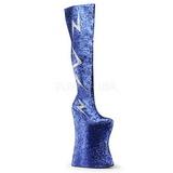 Azul Brilho 34 cm VIVACIOUS-3016 Botas Ate A Coxa Drag Queen