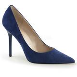 Azul Camurça 10 cm CLASSIQUE-20 Sapatos Scarpin Salto Agulha