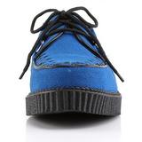 Azul Camurca 2,5 cm CREEPER-602S Creepers Sapatos Homem