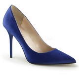 Azul Cetim 10 cm CLASSIQUE-20 Sapatos Scarpin Salto Agulha