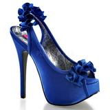 Azul Cetim 14,5 cm Burlesque TEEZE-56 Sandálias Salto Agulha