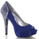 Azul Cristal 13 cm LOLITA-08 sapato scarpin para noite de gala