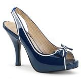 Azul Envernizado 11,5 cm PINUP-10 numeros grandes sandálias mulher