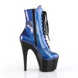 Azul Envernizado 18 cm ADORE-1020SHG botinha de saltos pole dance