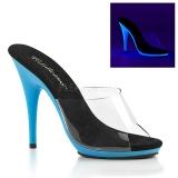 Azul Neon 13 cm POISE-501UV Plataforma Tamancos Altos