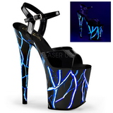 Azul Neon 20 cm Pleaser FLAMINGO-809NLB Plataforma Salto Agulha