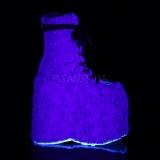 Azul Pelicas 18 cm SLAY-206 botinha lolita com plataforma