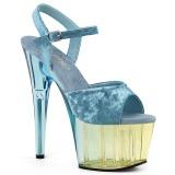 Azul Veludo 18 cm ADORE-709MCT sandálias pole dance