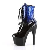 Azul brilho 18 cm ADORE-1020OMB botinha de saltos pole dance