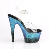 Azul brilho 18 cm ADORE-708SS sapatos de saltos pole dance