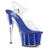 Azul brilho 18 cm Pleaser ADORE-708G sapatos de saltos pole dance