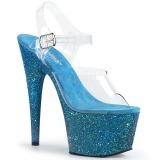 Azul brilho 18 cm Pleaser ADORE-708LG sapatos de saltos pole dance