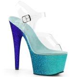 Azul brilho 18 cm Pleaser ADORE-708OMBRE sapatos de saltos pole dance