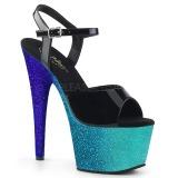 Azul brilho 18 cm Pleaser ADORE-709OMB sapatos de saltos pole dance