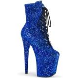 Azul glitter 20 cm FLAMINGO-1020GWR botinha de saltos pole dance
