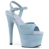 Azul imitação de couro 18 cm ADORE-709FS sandálias de salto alto