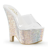 BEAU-601RS Pedra Cristal 16,5 cm Plataforma Sapatos Cunha Alto