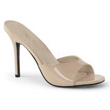 Bege 10 cm CLASSIQUE-01 tamancos mulher baixos