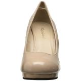 Bege 11,5 cm FLAIR-480 calçados femininos com salto alto