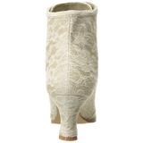Bege 12 cm VICTORIAN-30 Botinha Mulher Cano Curto com Cadarco
