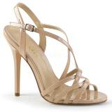 Bege 13 cm Pleaser AMUSE-13 sandálias de salto alto mulher
