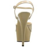 Bege 15 cm Pleaser DELIGHT-609 Salto Alto Plataforma