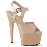 Bege 18 cm ADORE-708N Plataforma Sapatos Salto Alto