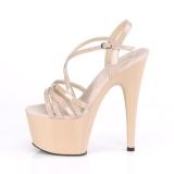 Bege 18 cm ADORE-713 pleaser sandálias salto agulha