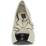 Bege Camurca 13,5 cm LOLITA-10 Plataforma Scarpin Salto Alto