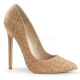 Bege Cortica 13 cm SEXY-20 Sapatos Scarpin Femininos