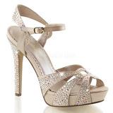 Bege Cristal 12 cm LUMINA-23 sandálias para noite de gala