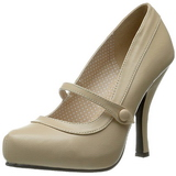 Bege Fosco 12 cm CUTIEPIE-02 Sapatos Scarpin Femininos