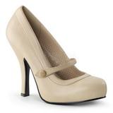 Bege Fosco 12 cm retro vintage CUTIEPIE-02 Sapatos Scarpin Femininos