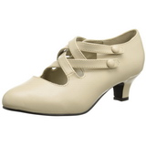 Bege Fosco 5 cm DAME-02 Sapatos Scarpin Femininos