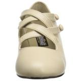 Bege Fosco 5 cm retro vintage DAME-02 Sapatos Scarpin Femininos