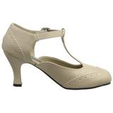 Bege Fosco 7,5 cm FLAPPER-26 Sapatos Scarpin Femininos