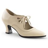 Bege Fosco 7 cm retro vintage VICTORIAN-03 Sapatos Scarpin Femininos