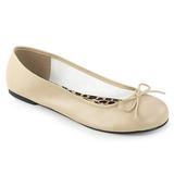 Bege Imitacao couro ANNA-01 numeros grandes sapatos bailarina