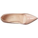 Bege Verniz 10 cm CLASSIQUE-20 Sapatos Scarpin Salto Agulha