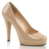 Bege Verniz 11,5 cm FLAIR-480 sapatos scarpin para homens