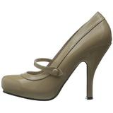 Bege Verniz 12 cm CUTIEPIE-02 Sapatos Scarpin Femininos