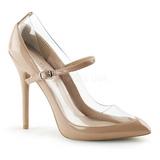 Bege Verniz 13 cm AMUSE-21 classico calçados scarpini