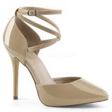 Bege Verniz 13 cm AMUSE-25 sapato scarpin para noite de gala