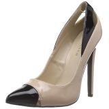 Bege Verniz 13 cm SEXY-22 classico calçados scarpini