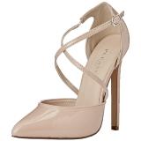 Bege Verniz 13 cm SEXY-26 classico calçados scarpini