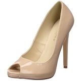Bege Verniz 13 cm SEXY-42 classico calçados scarpini
