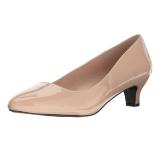 Bege Verniz 5 cm FAB-420W Sapatos Scarpin Femininos